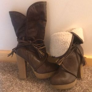 Justfab rubber sole boots